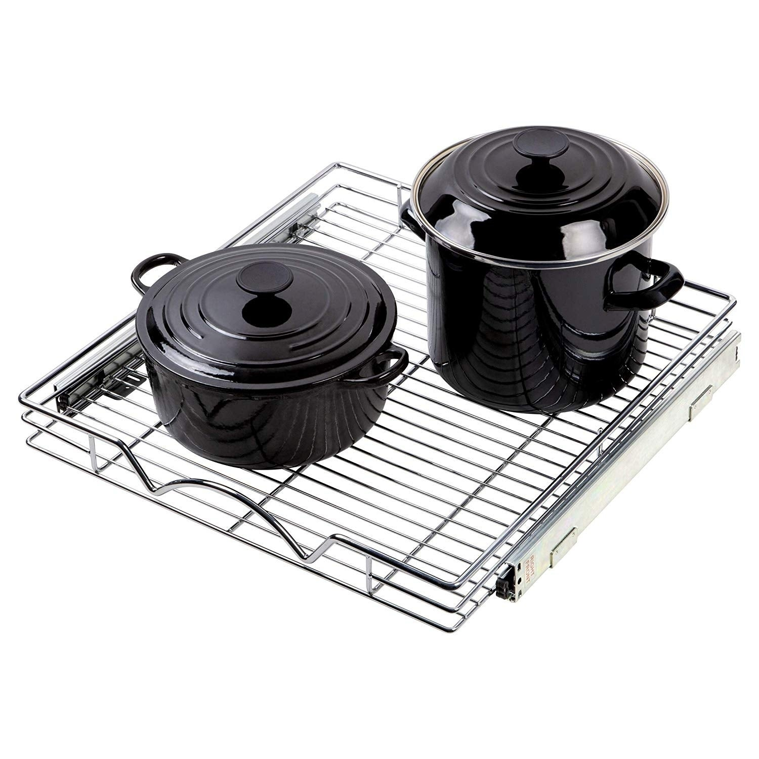 Shop Pull Out Sliding Steel Wire Under Cabinet Drawer Organizer 21