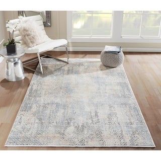 Momeni Bergen Viscose and Polyester Blue Area Rug