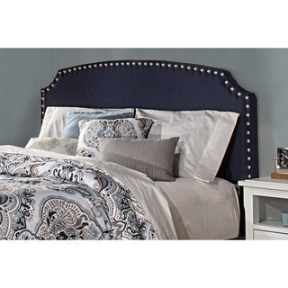 Lani Navy Linen Upholstered Headboard (Bed Frame Not Included)