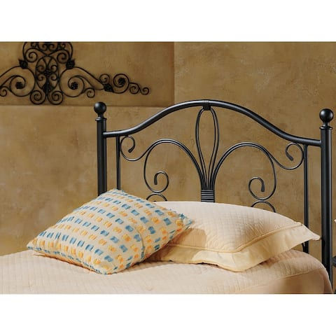 Milwaukee Antique Brown Finish Metal And Wood Headboard With Rails