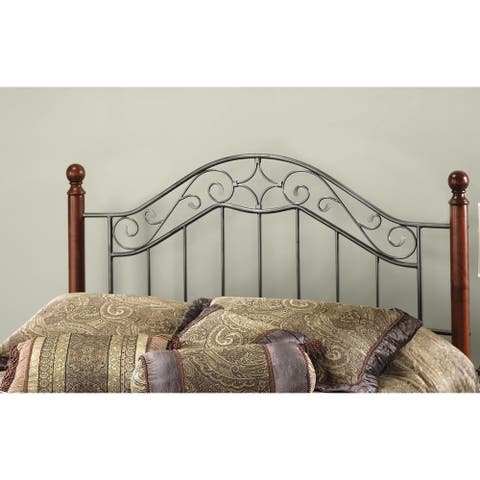 Copper Grove Baesweiler Metal and Wood Headboard