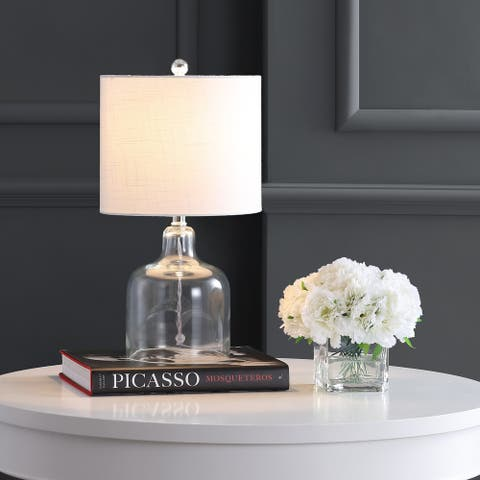 "Gemma 19"" Glass Bell LED Table Lamp, Clear by JONATHAN Y"