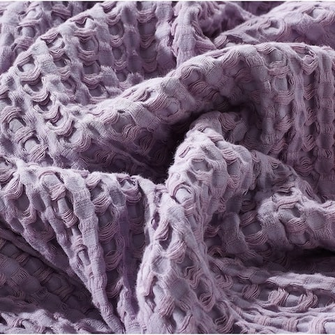 Cotton Waffle Premium Weave Blanket - Ultra Soft Perfect for Layering