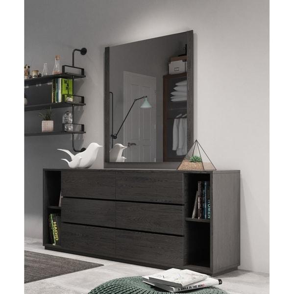 Nova Domus Jagger Modern Grey Dresser & Mirror Set