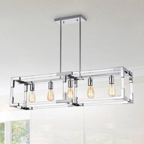 Warehouse of Tiffany Rochka Chrome 5-Light Chandelier