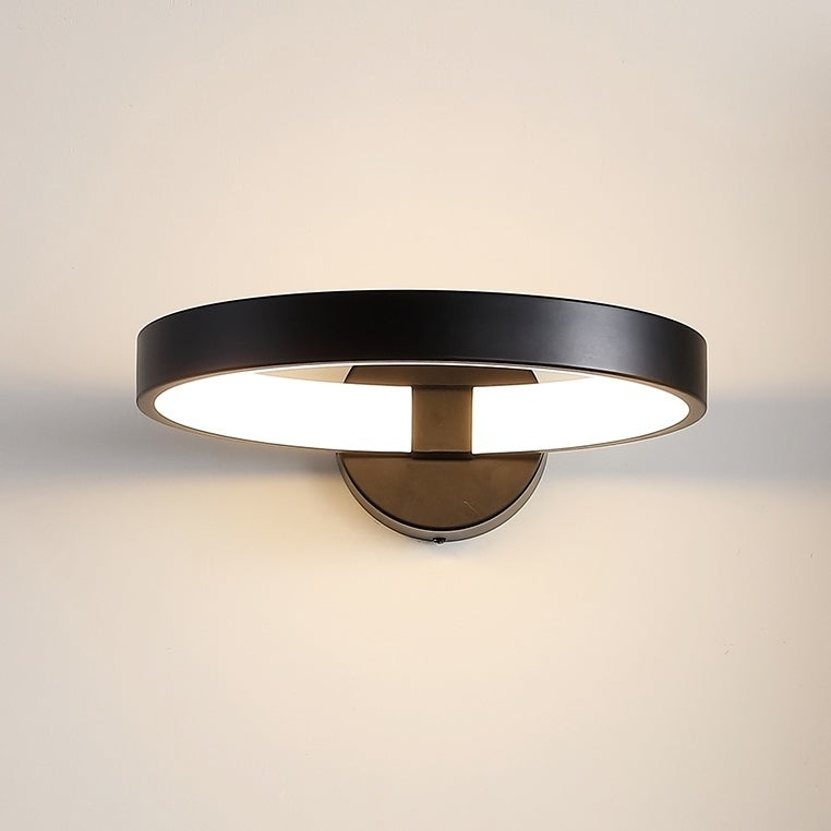 Nathaniel 12 Dimmable Integrated LED Sconce, Black by JONATHAN  Y (Black)