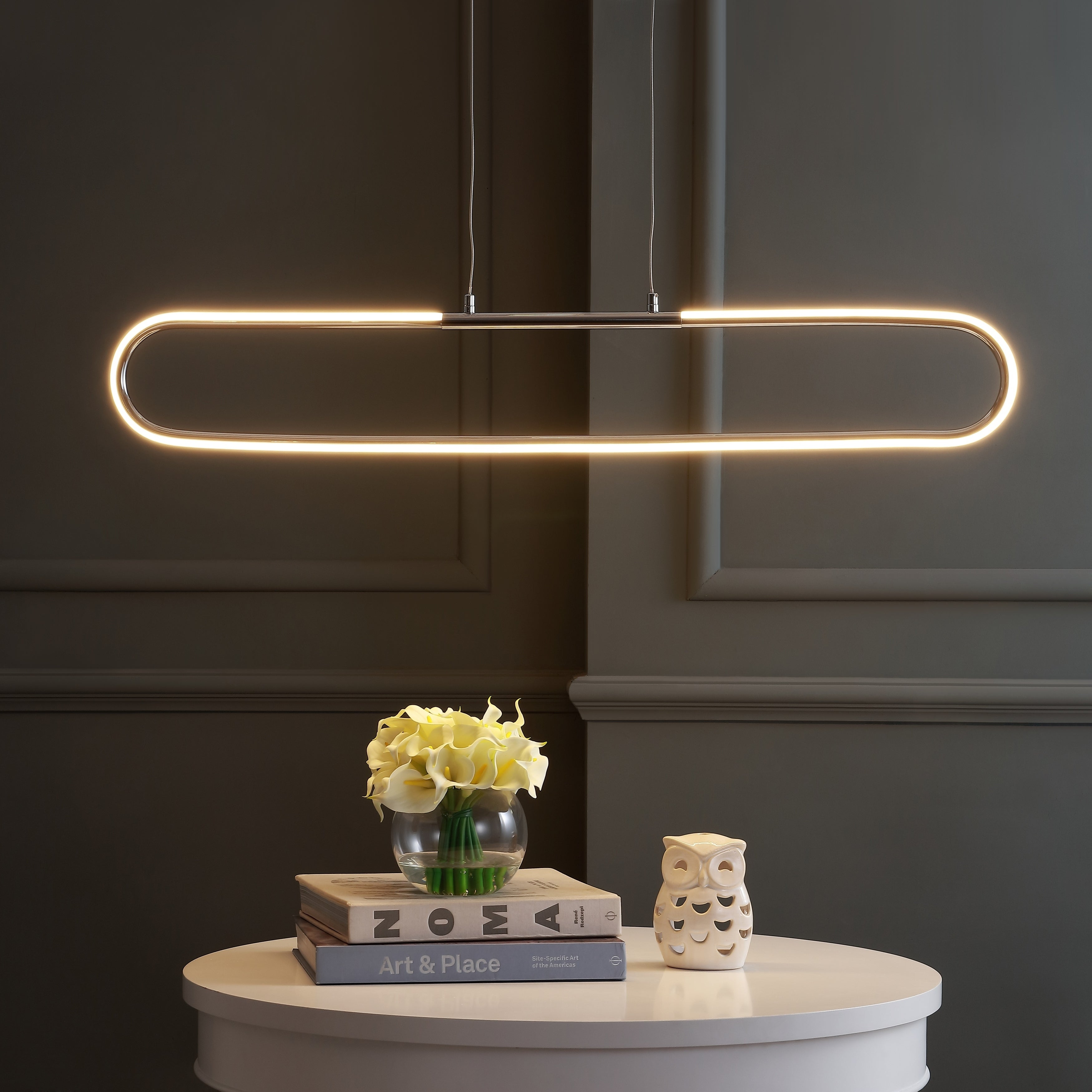 Ned 39 Dimmable Adjustable Integrated LED Pendant by JONATHAN  Y (Metallic)