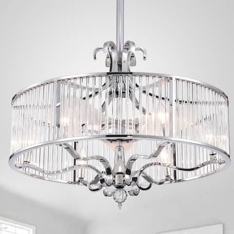 Safavieh Lighting 30-Inch Geneve Ceiling Light Fandelier (with Remote)
