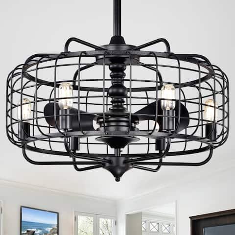 Safavieh Lighting 30-Inch Larsin Ceiling Light Fandelier (with Remote)