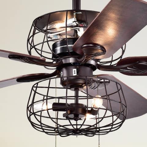 Safavieh Lighting 52-Inch Erving Ceiling Light Fan