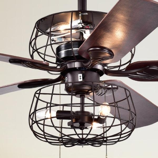 Shop Safavieh Lighting 52 Inch Erving Ceiling Light Fan