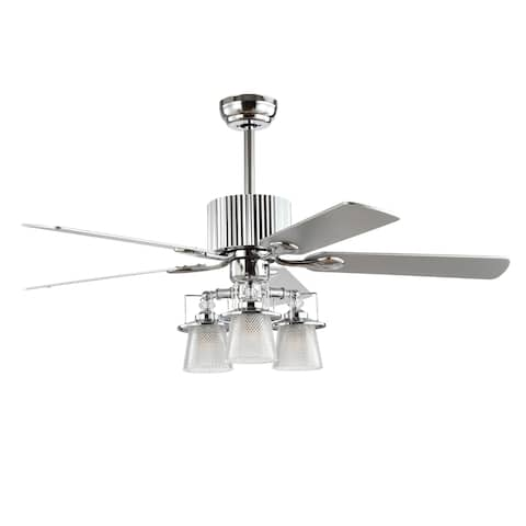 Safavieh Lighting 52-Inch Parlin Ceiling Light Fan (with Remote)