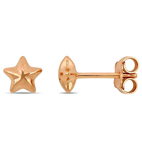 Miadora 18k Rose Gold Star Stud Earrings