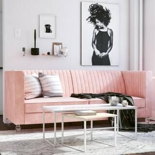 CosmoLiving by Cosmopolitan Arabelle Velvet Upholstered Futon