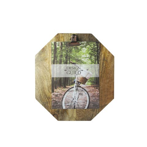 """wood octagon picture frame 5x7"""" photo 8.5x4x9.5"""""""