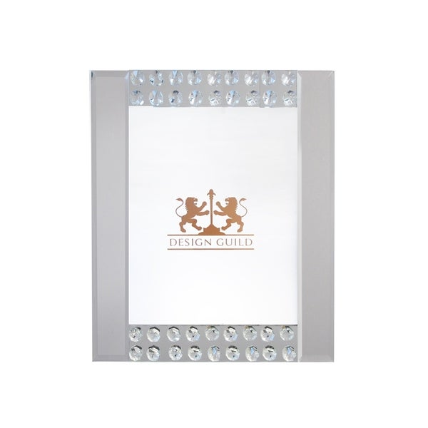 """mirror w/beads picture frame 8x10"""" photo"""
