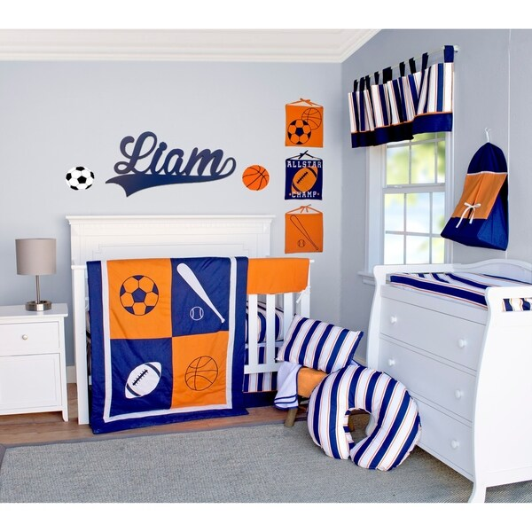 All Star Crib Baby Bedding Set by Pam Grace Creations. Opens flyout.