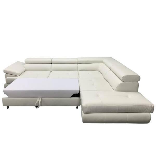 Futon Leather Sectional Sleeper Sofa