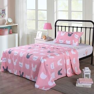 MarCielo Kids cotton sheet twin full sheets for girls boys children