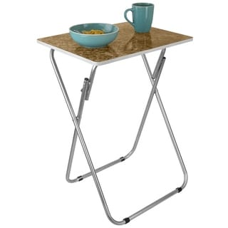 Marble Multi-Purpose Foldable Table, Brown