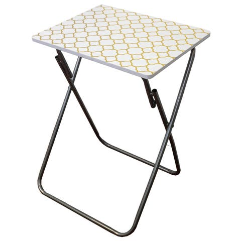 Metallic Multi-Purpose Foldable Table, Gold