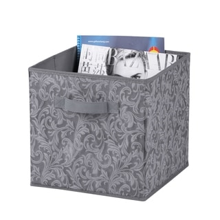 Damask Collection Non-Woven Storage Box, Grey