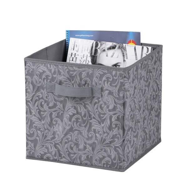 Damask Collection Non-Woven Storage Box, Grey