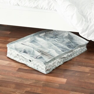 12 Pair Chevron Under-the-Bed Organizer