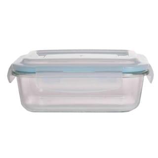 35 oz.  Rectangular  Borosilicate Glass Food Storage Container