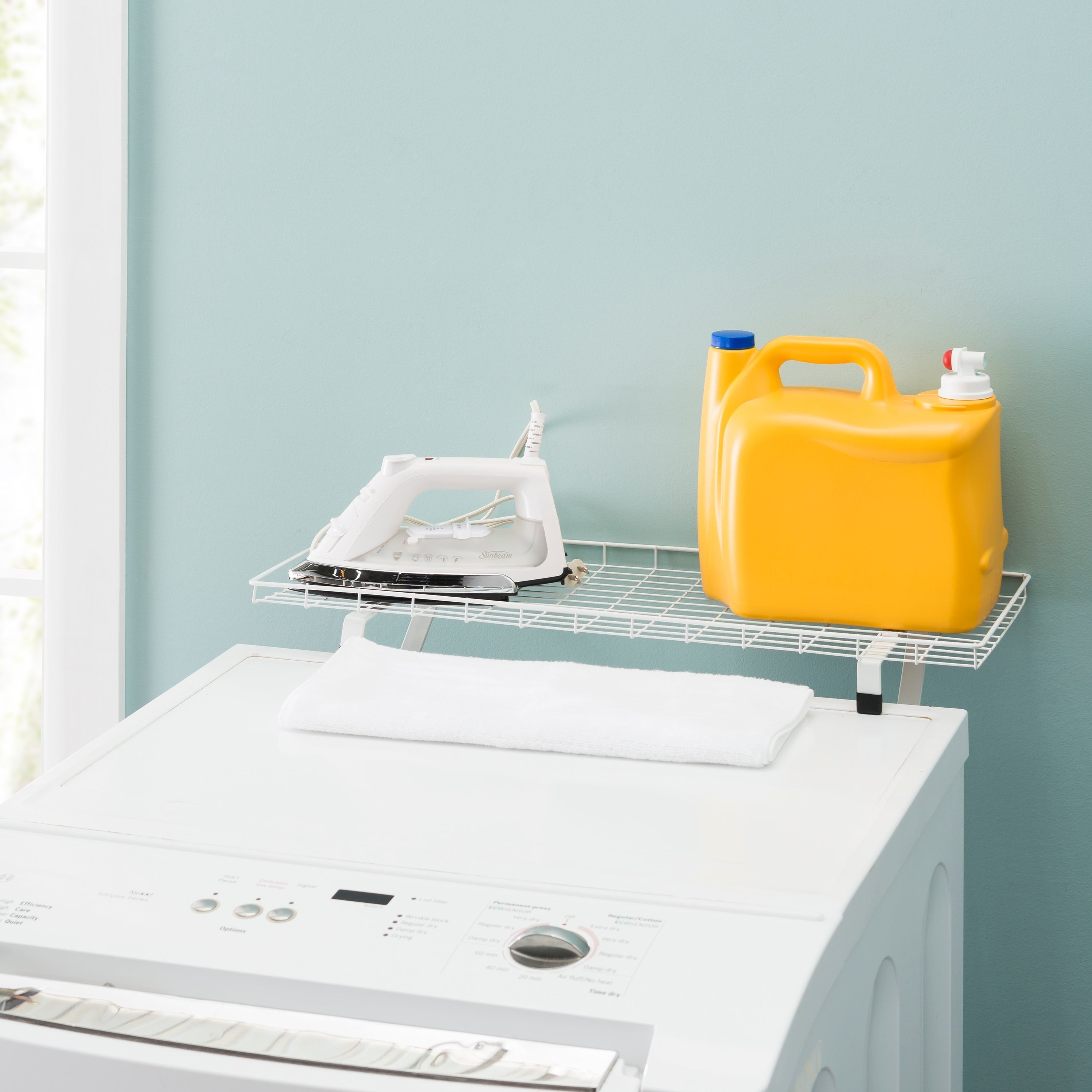 Over the-Washer and Dryer Laundry Storage Shelf, White