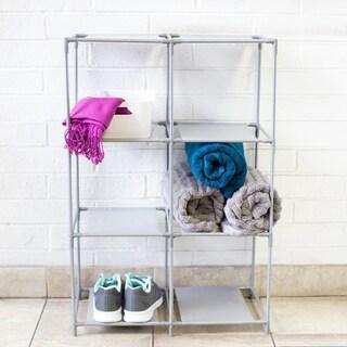 Multi-Purpose Free-Standing 6 Cubed Organizing Storage Shelf, Grey