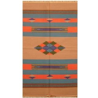 Handmade Wool Kilim (India) - 3' x 5'2