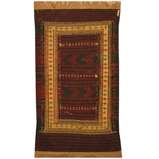 Handmade One-of-a-Kind Wool Kilim (Afghanistan) - 3' x 5'
