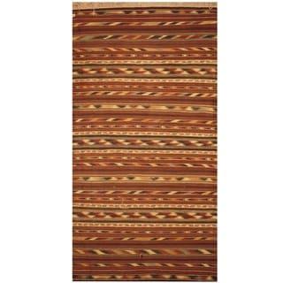 Handmade One-of-a-Kind Wool Kilim (Afghanistan) - 3'3 x 6'3