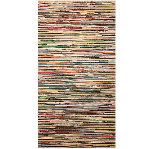 Handmade One-of-a-Kind Wool Kilim (India) - 3' x 5'6