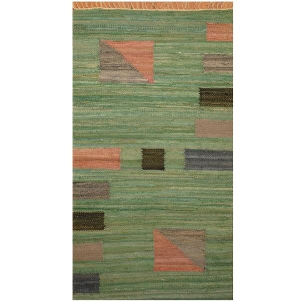 Handmade One-of-a-Kind Wool Kilim (India) - 3' x 5'5