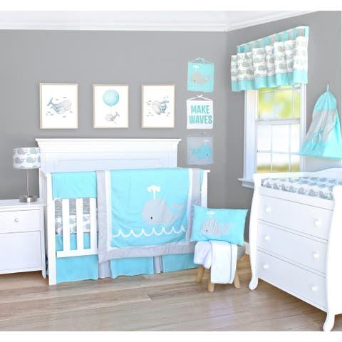 Pam Grace Creations Nautical Whale 13 Piece Crib Bedding Set