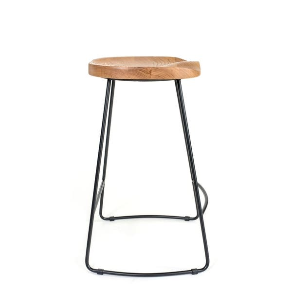 Awe Inspiring Shop Carbon Loft St Claire Light Beige Metal Wood Counter Caraccident5 Cool Chair Designs And Ideas Caraccident5Info