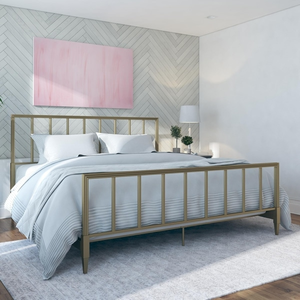 CosmoLiving by Cosmopolitan Blair Brass Metal Bed