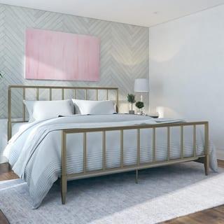 CosmoLiving by Cosmopolitan Blair Brass Metal Bed