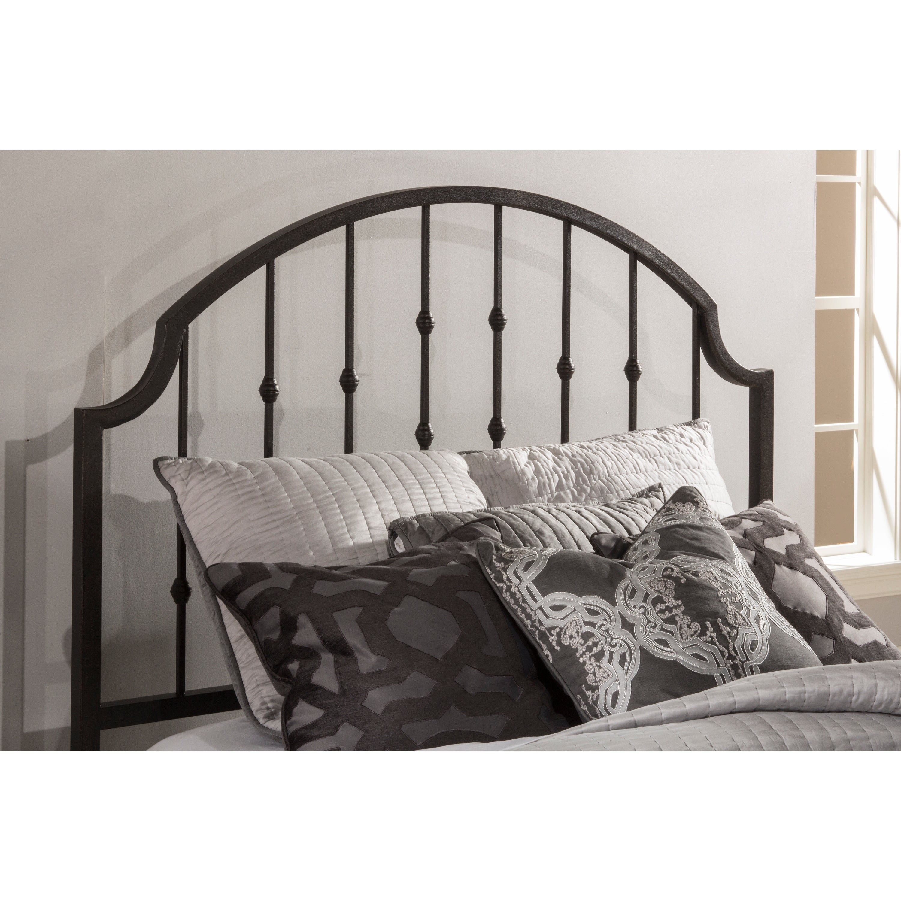 Copper Grove Fallingbostel Distressed Black Metal Traditional Headboard Frame Not Included Overstock 28125633 Queen