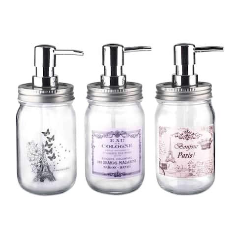 Paris in Bloom Mason Jar Soap Dispenser