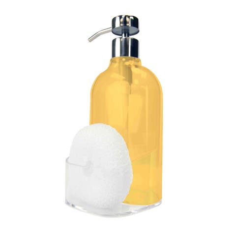 Soap Dispenser with Sponge Holder, Clear
