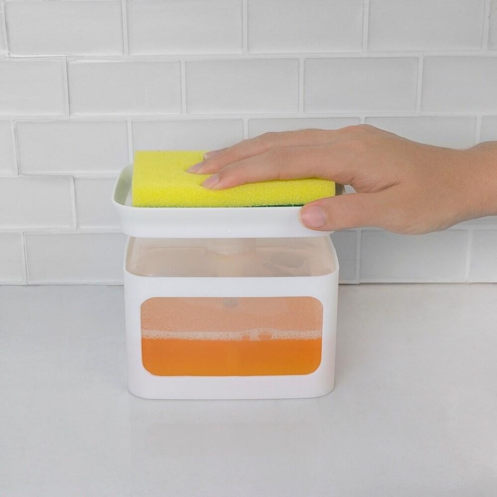 Soap Dispensing Sponge Holder, White