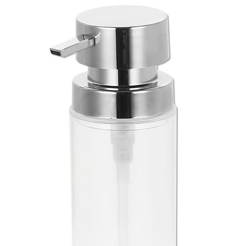 12 oz. Stainless Steel Round Soap Dispenser, Clear