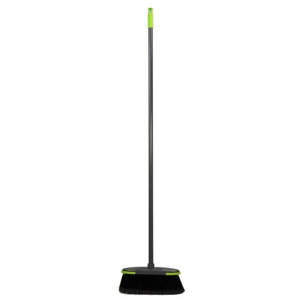 Brilliant Plastic Broom, Grey/Lime