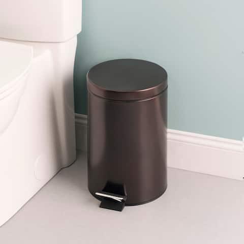 12 Liter Round Waste Bin, Bronze