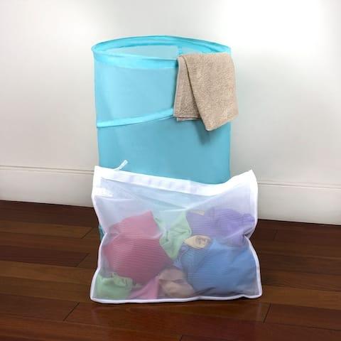 Sunbeam Intimates Micro Mesh Wash Bag, White