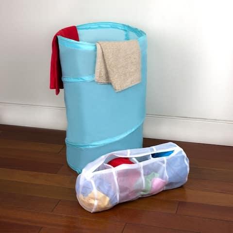 Sunbeam 4 Compartment Micro Mesh Wash Bag, White