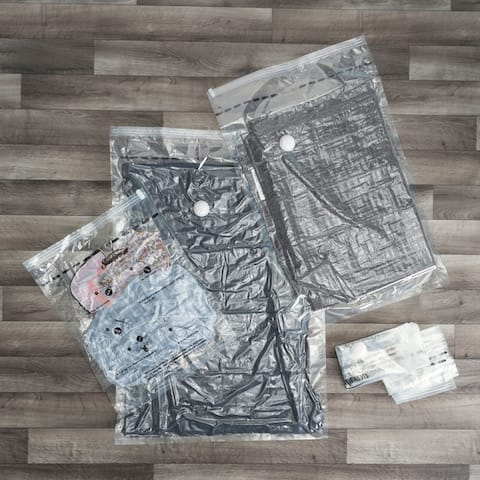 Sunbeam Assorted Vacuum Storage Bags, (Pack of 5), Clear,